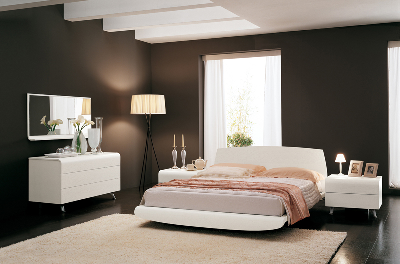 белые спальни италия