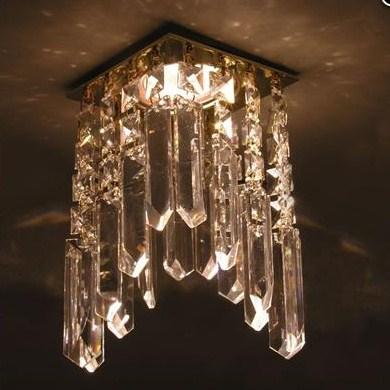 потолочный светильник арт деко с подвесами из хрусталя, каскадами из стекла в стиле ардеко