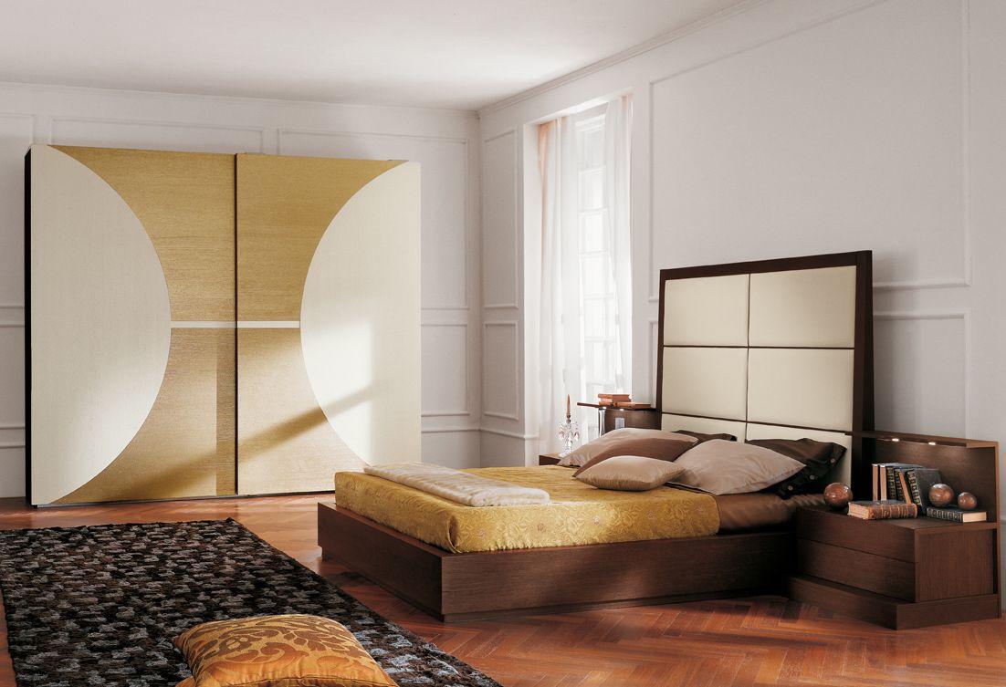 кровать с кожаным изголовьем белого цвета