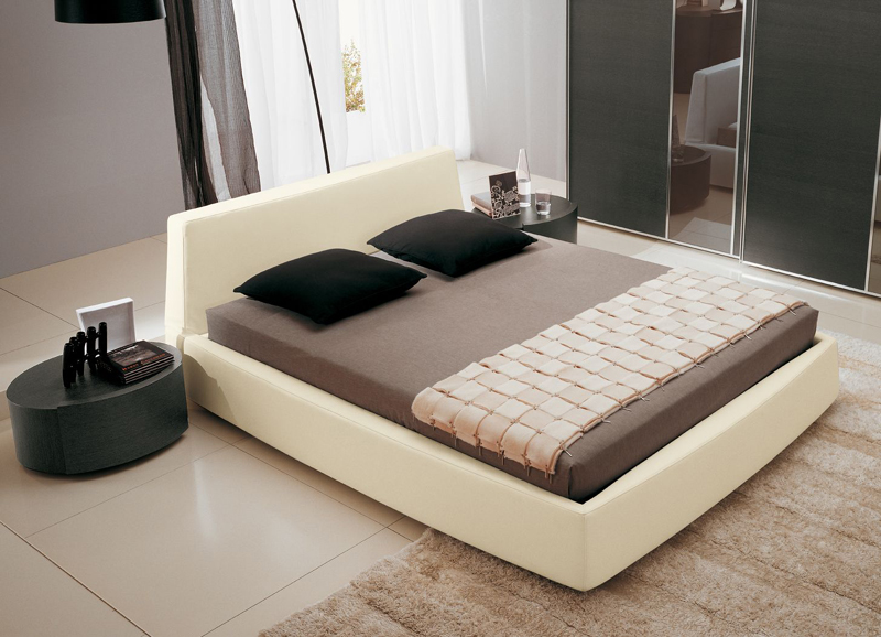 купить кровать с мягким изголовьем