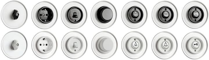 электрические выключатели в классическом стиле