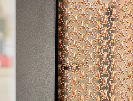 ширма из металлической ткани