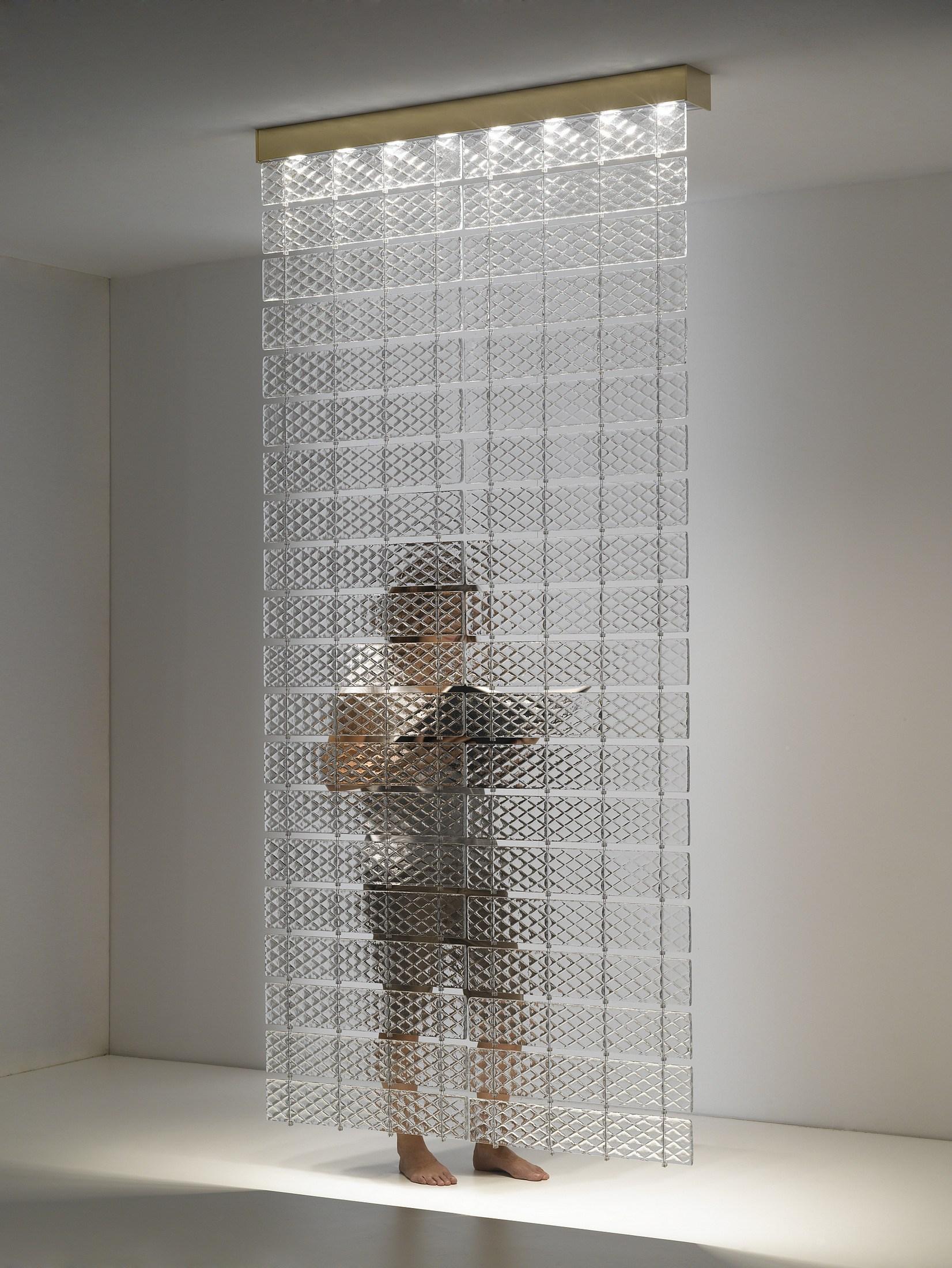 Fabbian Lamins литое архитектурное стекло с фактурой