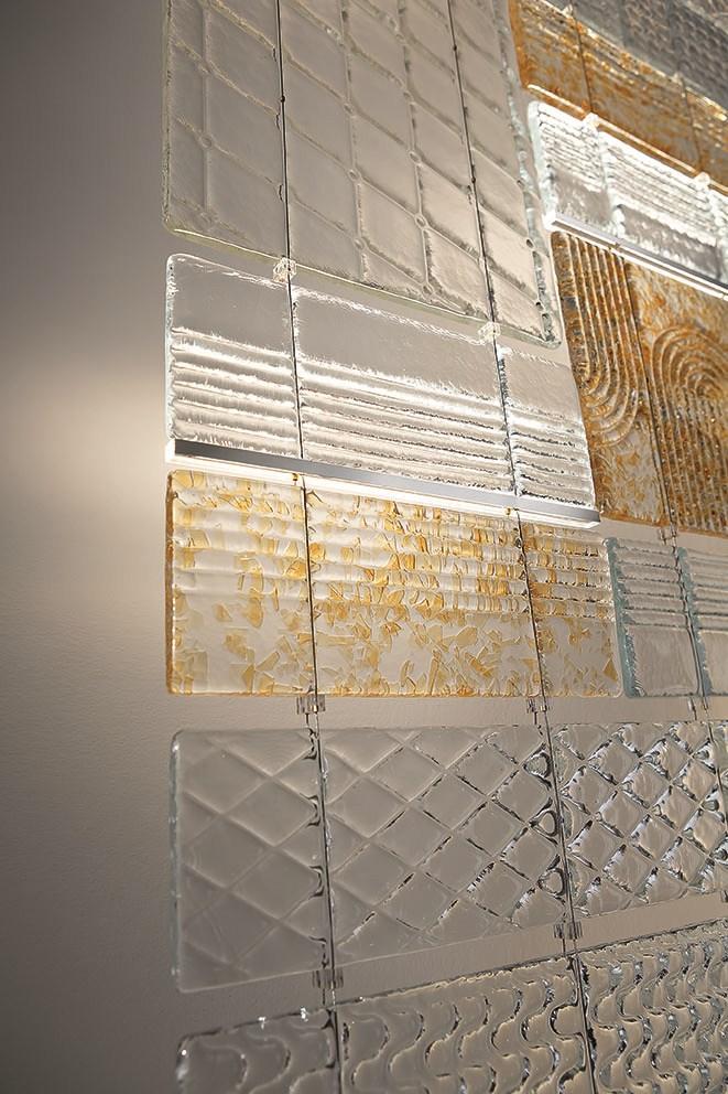 Fabbian Lamins ширма из литого стекла с фактурой