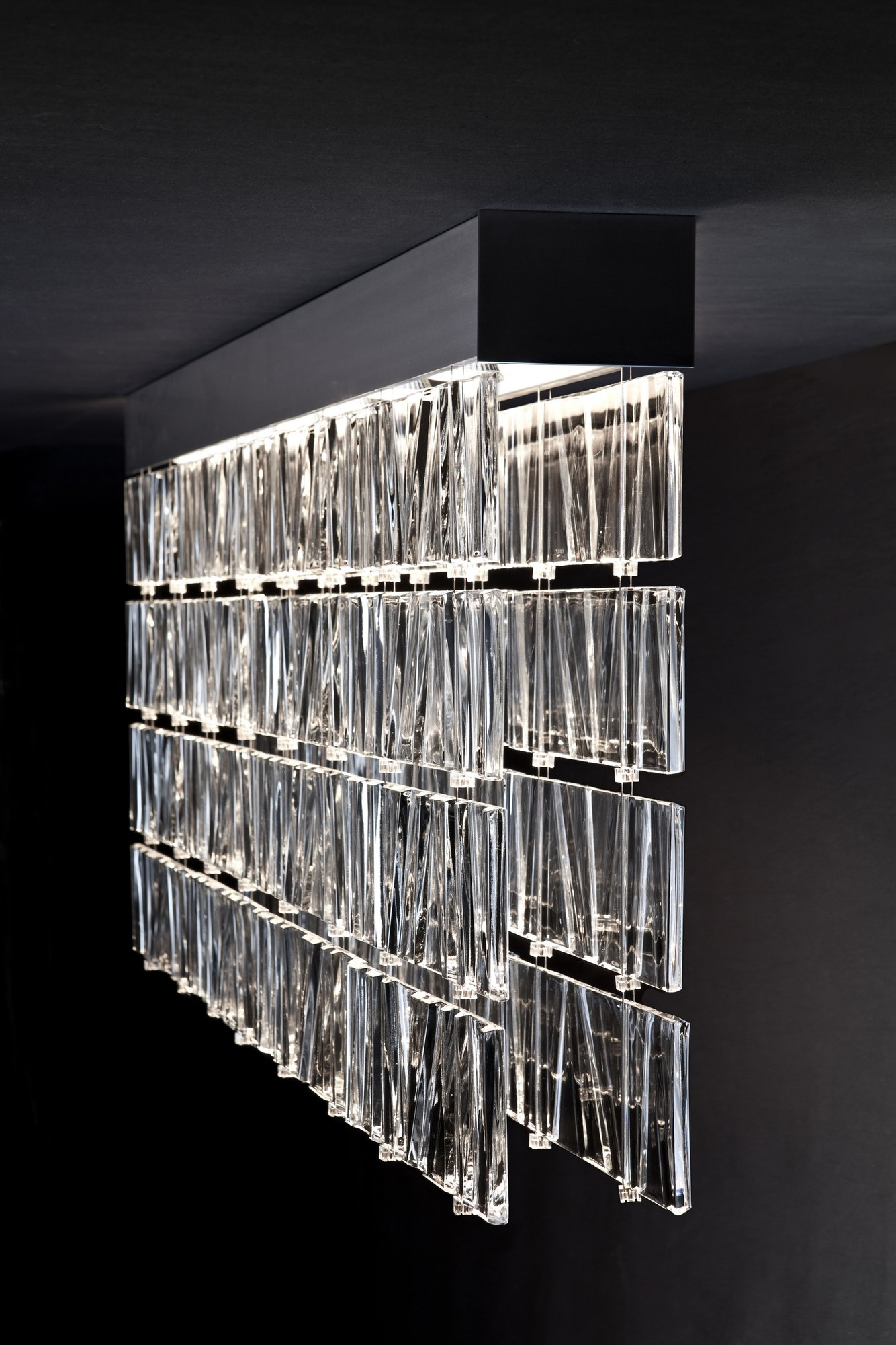 Tile Fabbian светильник из литого стекла с фактурой на заказ