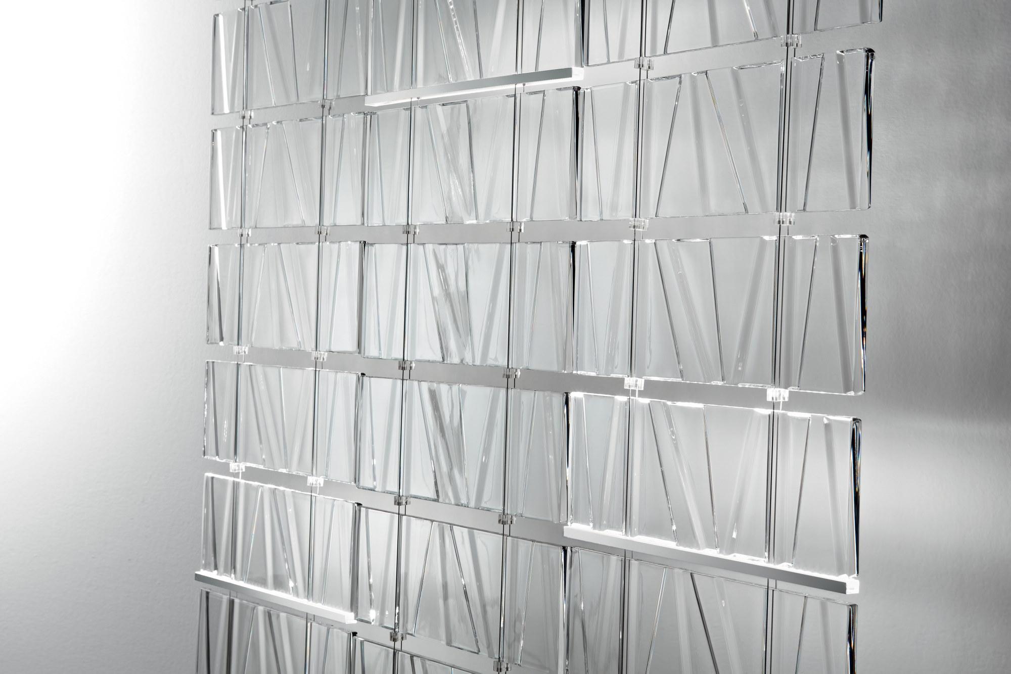 Tile Fabbian перегородка из литого стекла с фактурой